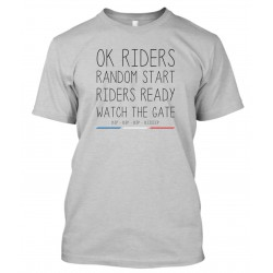"T-Shirt Homme Gris ""Ok Riders !"""