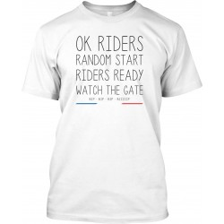 "T-Shirt Homme Blanc ""Ok Riders !"""