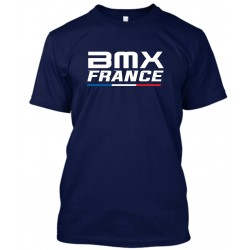 "T-Shirt Homme Bleu Navy ""BMX France"""