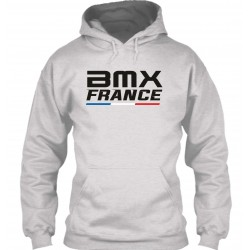 "Sweat à Capuche Gris ""BMX France"""