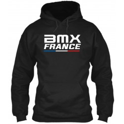 "Sweat à Capuche Noir ""BMX France"""