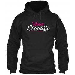 "Sweat à Capuche Noir ""Team Connasse"""