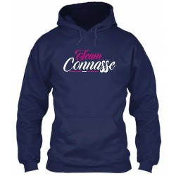 "Sweat à Capuche Bleu Navy ""Team Connasse"""