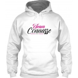"Sweat à Capuche Blanc ""Team Connasse"""