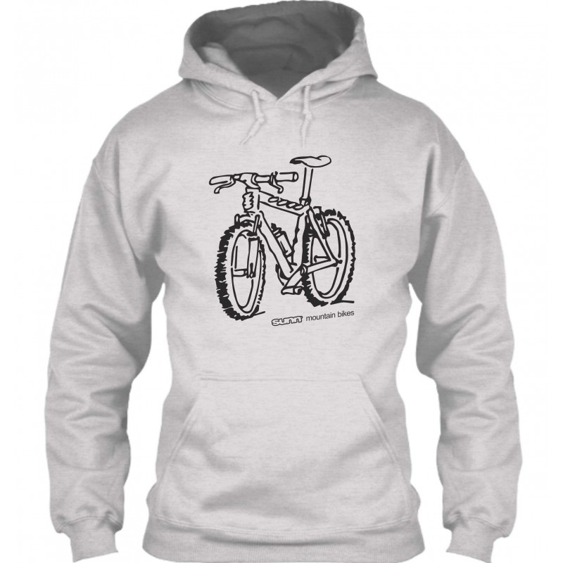 "Sweat à Capuche Gris ""Sunn mountain bikes"""