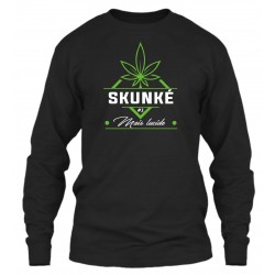 "Sweat Col Rond Noir ""Skunké"""