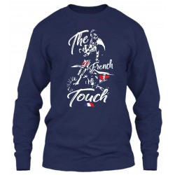 "Sweat Col Rond Bleu Navy ""The French Touch"""