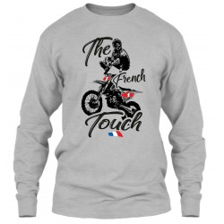 "Sweat Col Rond Gris ""The French Touch"""
