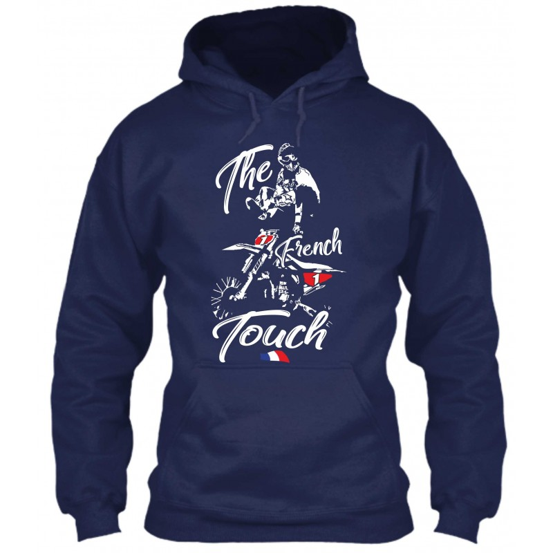 "Sweat à Capuche Bleu Navy ""The French Touch"""