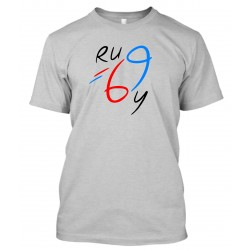 "T-Shirt Homme Gris ""Rugby 69"""