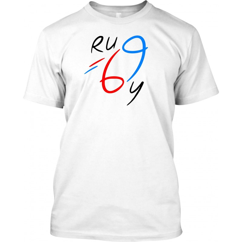 "T-Shirt Homme Blanc ""Rugby 69"""